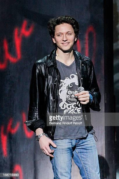 Singer Raphael performs during 'La Chanson De L'Annee 2012' Show Recording at Palais des Sports on December 10 2012 in Paris France