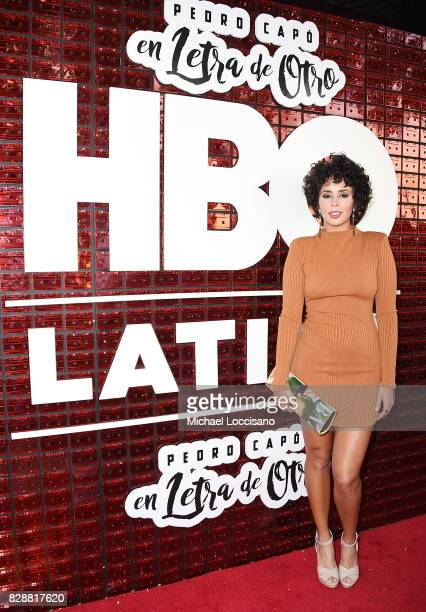 Singer Raquel Sofia attends HBO Latino x Pedro Capo En Letra de Otro at La Marina Restaurant Bar Beach Lounge on August 9 2017 in New York City