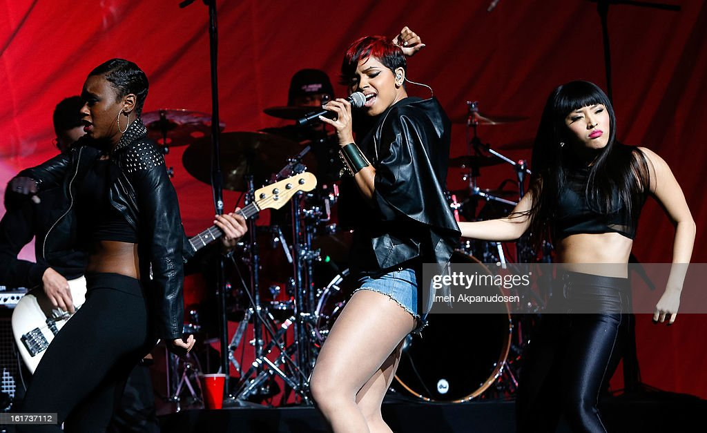 Singer RaVaughn performs onstage at Power 106's Valentine's Day concert at Nokia Theatre L.A. Live on February 14, 2013 in Los Angeles, California.