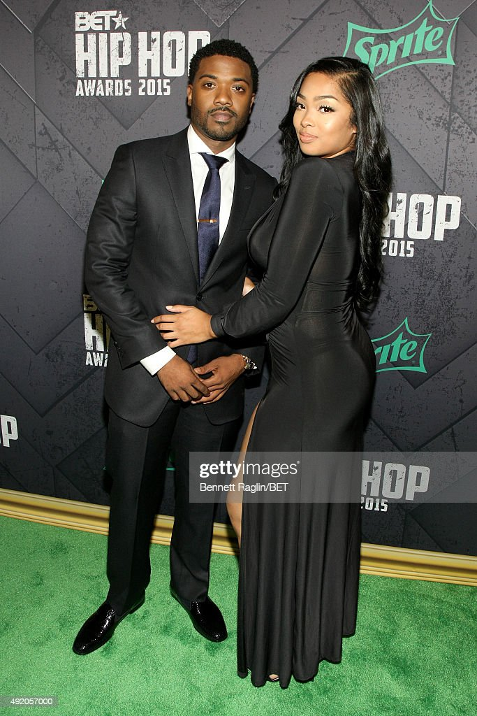 Singer Ray and TV personality J Princess Love attend the BET Hip Hop Awards 2015 presented by Sprite at Atlanta Civic Center on October 9 2015 in...