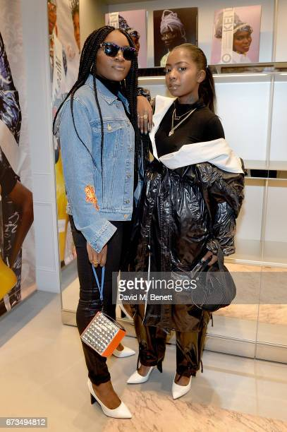 Singer Ray BLK and DJ Siobhan Bell attend 'Gidi Gidi Bu Ugwu Eze Unity Is Strength' an exhibition of images and video directed by Akinola Davies Jr...