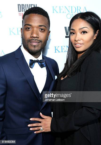 Singer Ray J and designer Princess Love attend WE tv's premiere of 'Kendra On Top' and 'Driven To Love' at Estrella Sunset on March 31 2016 in West...