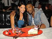 Singer Ray J and girlfriend Olivia Alvarez dine at Sugar Factory American Brasserie at the Paris Las Vegas on August 20 2011 in Las Vegas Nevada