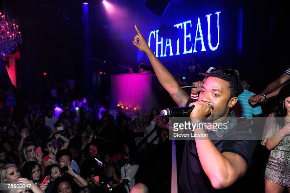 Singer Ray J performs at the Chateau Nightclub Gardens at the Paris Las Vegas on August 30 2013 in Las Vegas Nevada