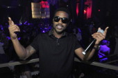 Singer Ray J poses at the Chateau Nightclub Gardens at the Paris Las Vegas on August 30 2013 in Las Vegas Nevada