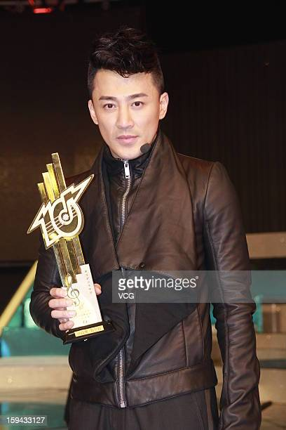 Singer Raymond Lam attends the 2012 Jade Solid Gold Best Ten Music Awards Presentation at TVB City on January 13 2013 in Hong Kong Hong Kong