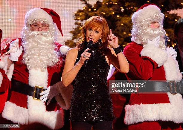 Singer Reba McEntire performs onstage at the CMA Country Christmas at the Bridgestone Arena on November 11 2010 in Nashville Tennessee