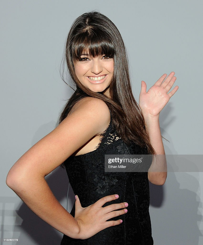 Singer Rebecca Black appears at MTV's inaugural 'O Music Awards' at the Fremont Street Experience April 28 2011 in Las Vegas Nevada