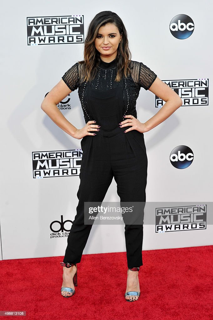 Singer Rebecca Black arrives at the 2015 American Music Awards at Microsoft Theater on November 22 2015 in Los Angeles California