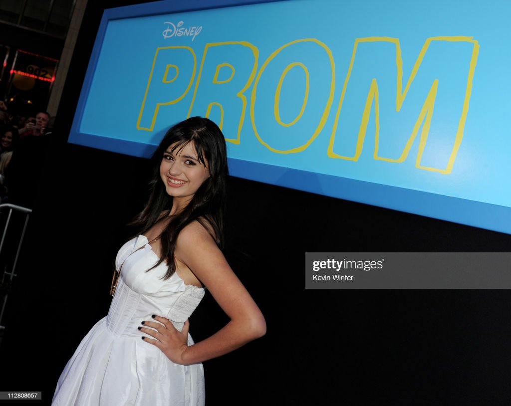 Singer Rebecca Black arrives at the premiere of Walt Disney Pictures' 'Prom' at the El Capitan Theater on April 21 2011 in Los Angeles California