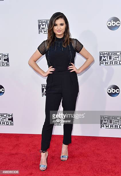 Singer Rebecca Black attends the 2015 American Music Awards at Microsoft Theater on November 22 2015 in Los Angeles California