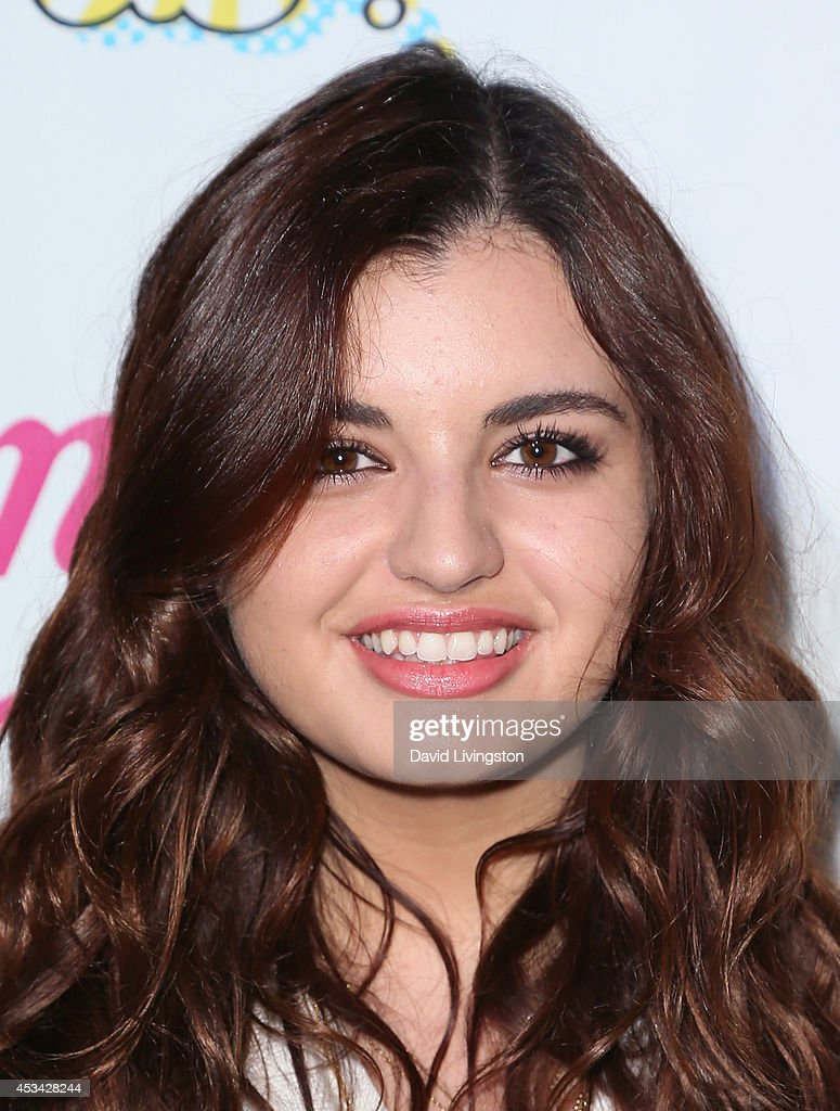 Singer <a gi-track='captionPersonalityLinkClicked' href=/galleries/search?phrase=Rebecca+Black&family=editorial&specificpeople=6979851 ng-click='$event.stopPropagation()'>Rebecca Black</a> attends the Teen Choice 2014 Awards Official Pre-Party hosted by DigiTour at Gibson Guitar Entertainment Relations Showroom on August 9, 2014 in Beverly Hills, California.