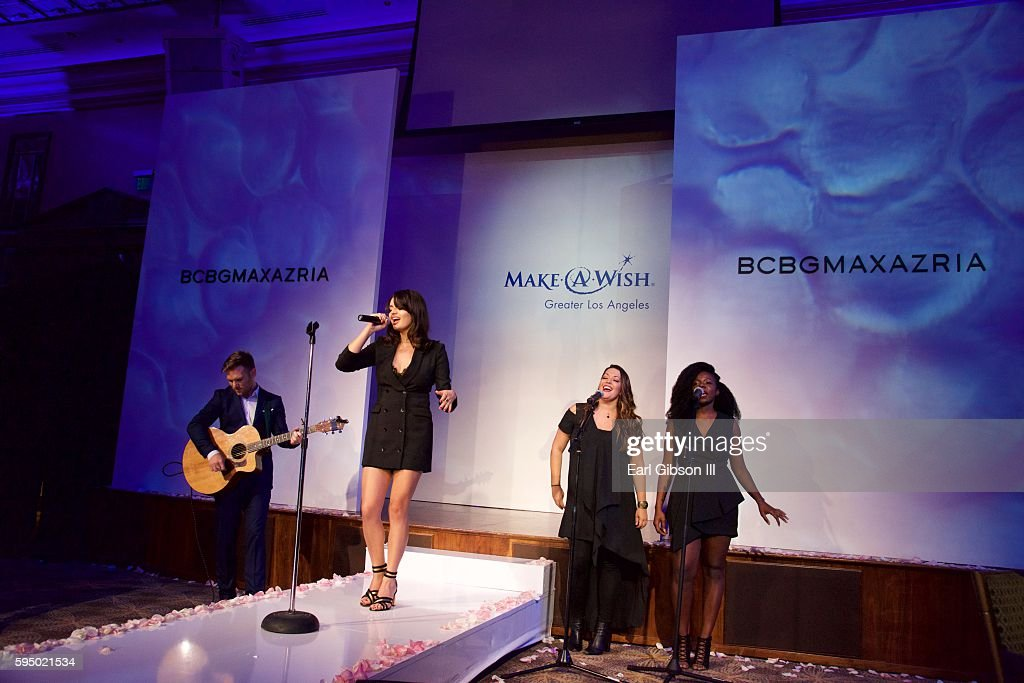 Singer Rebecca Black performs at the MakeAWish Greater Los Angeles Fashion Fundraiser at Taglyan Cultural Complex on August 24 2016 in Hollywood...