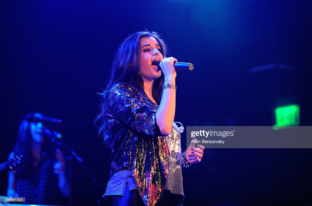 Singer Rebecca Black performs live at the House of Blues on December 23, 2012 in Anaheim, California.