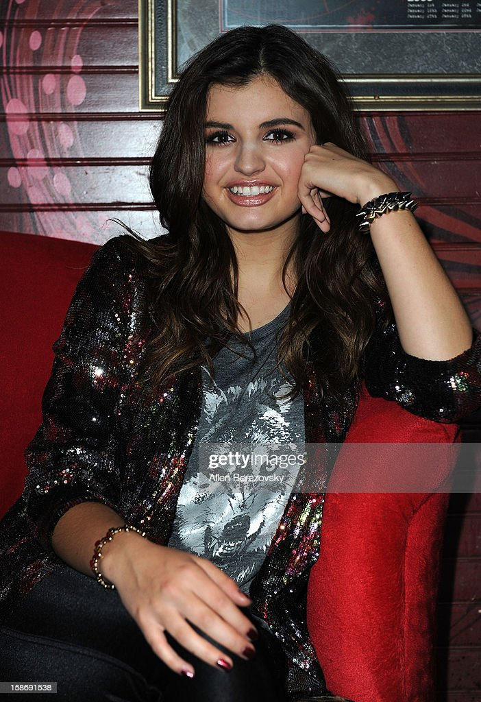 Singer Rebecca Black poses backstage before her concert at the House Of Blues on December 23, 2012 in Anaheim, California.