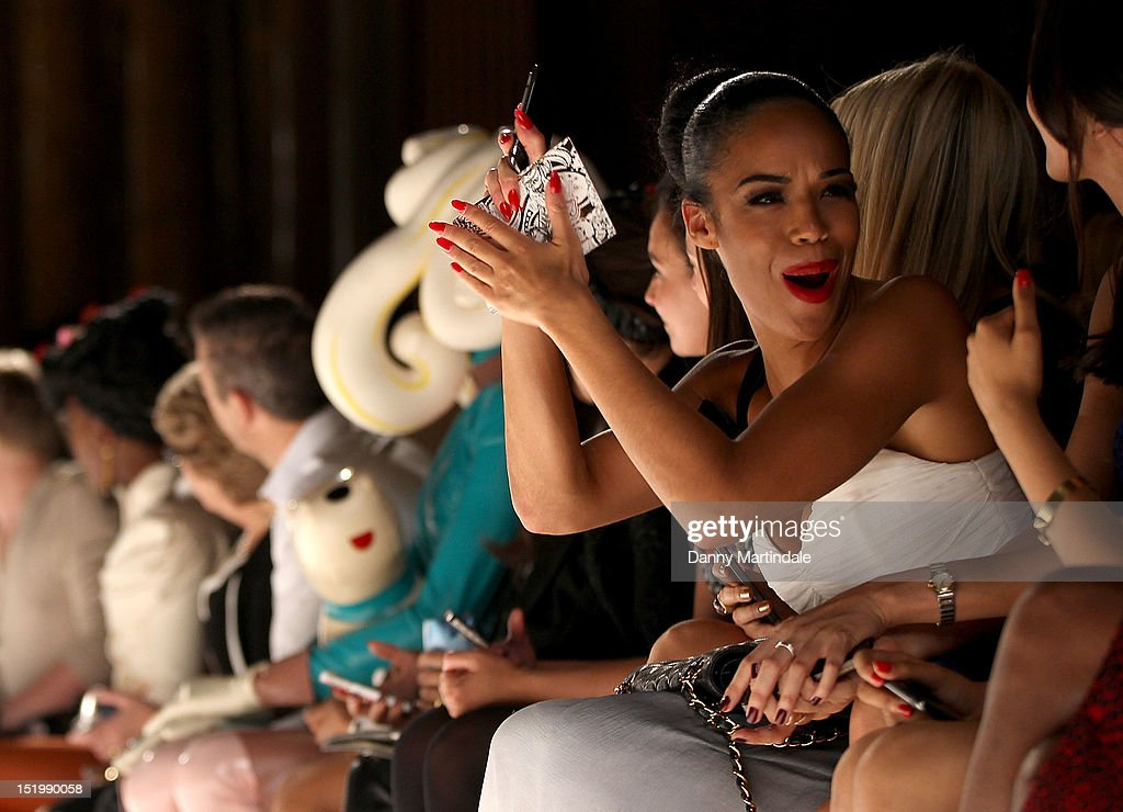 Singer Rebecca Ferguson attends the front row for the PPQ show on day one of London Fashion Week Spring/Summer 2013, at Goldsmiths Hall on September 14, 2012 in London, England.