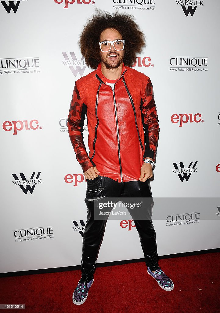 Singer Redfoo attends Meghan Trainor's record release party for her debut album 'Title' at Warwick on January 13 2015 in Hollywood California