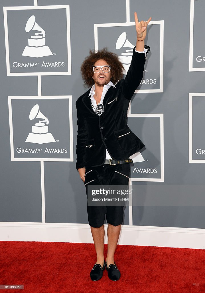 Singer RedFoo of LMFAO arrives at the 55th Annual GRAMMY Awards at Staples Center on February 10 2013 in Los Angeles California