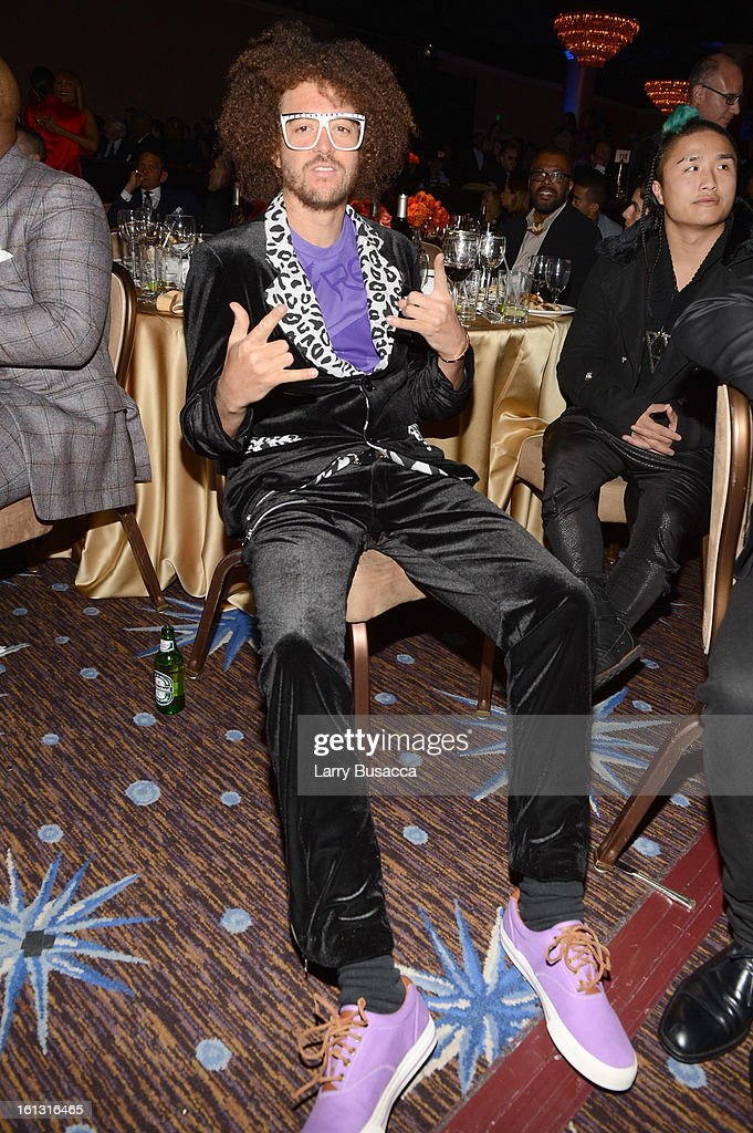 Singer Redfoo of LMFAO attends the 55th Annual GRAMMY Awards PreGRAMMY Gala and Salute to Industry Icons honoring LA Reid held at The Beverly Hilton...