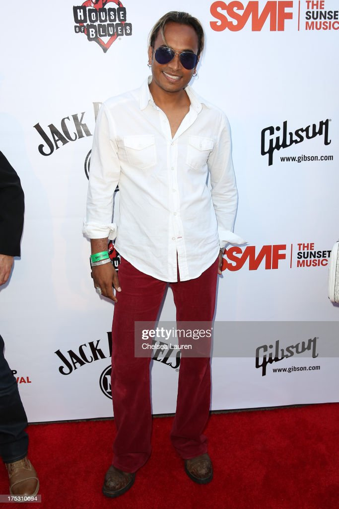 Singer Reggie Benjamin arrives at the 6th annual Sunset Strip Music Festival launch party honoring Joan Jett at House of Blues Sunset Strip on August 1, 2013 in West Hollywood, California.