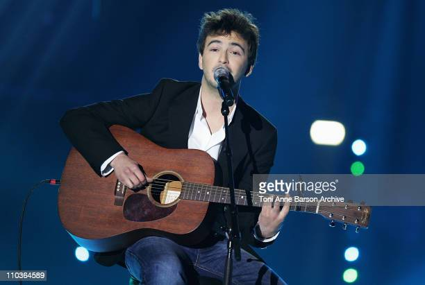 Singer Renan Luce performs on stage during the Les Victoires de la Musique at the Le Zenith on February 28 2009 in Paris France