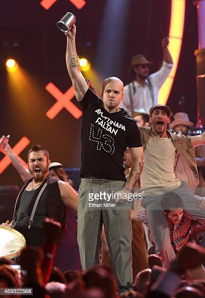 Singer Rene Perez Joglar of Calle 13 performs onstage during the 15th Annual Latin GRAMMY Awards at the MGM Grand Garden Arena on November 20 2014 in...