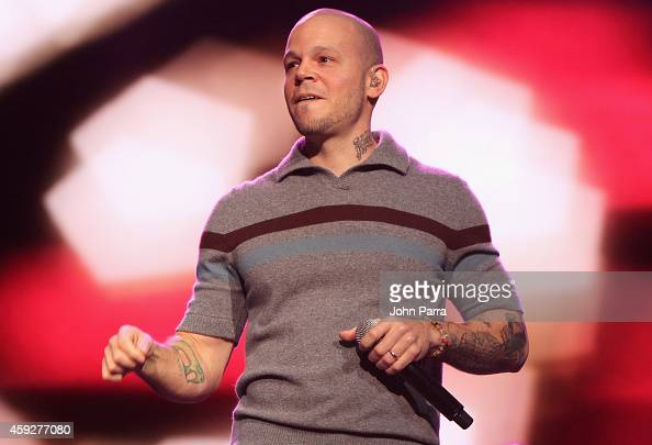 Singer Rene Perez Joglar of Calle 13 performs onstage during the 2014 Person of the Year honoring Joan Manuel Serrat at the Mandalay Bay Events...