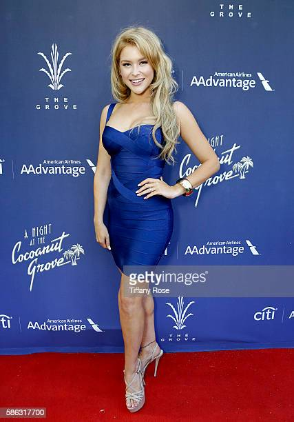 Singer Renee Olstead attends A Night At The Cocoanut Grove at The Grove on August 5 2016 in Los Angeles California