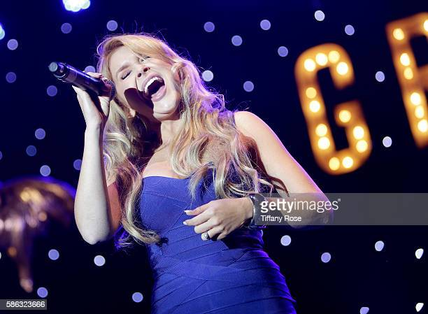 Singer Renee Olstead performs onstage during A Night At The Cocoanut Grove at The Grove on August 5 2016 in Los Angeles California