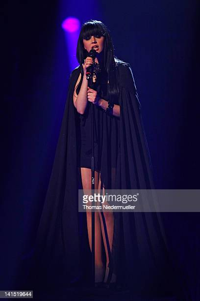 Singer Ria of German band Eisblume performs at 'The Dome 61' at the RheinMainTheater on March 16 2012 in Wiesbaden Germany