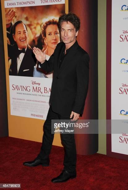 Singer Richard Marx arrives at the 'Saving Mr Banks' Los Angeles Premiere at Walt Disney Studios on December 9 2013 in Burbank California