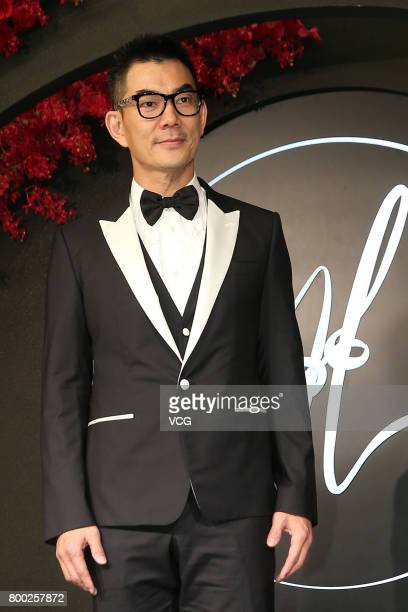 Singer Richie Jen arrives at the red carpet of the banquet held by Macau businessman Levo Chan and actress Ady An on June 23 2017 in Taipei Taiwan of...
