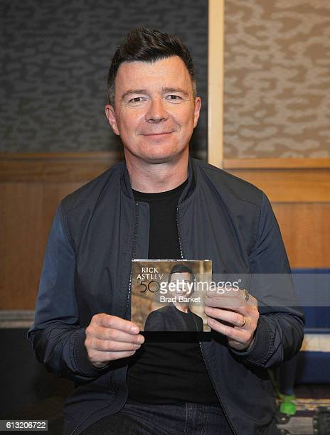 Singer Rick Astley attends his album signing for '50' at Barnes Noble 86th Lexington on October 7 2016 in New York City