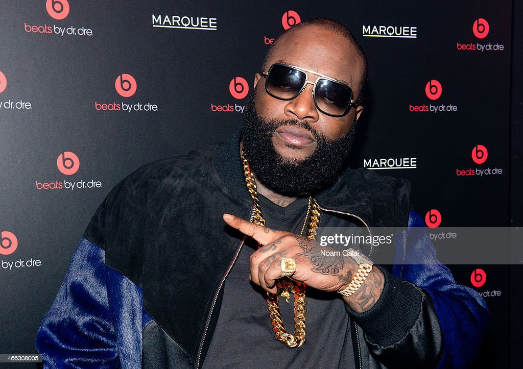 Singer <a gi-track='captionPersonalityLinkClicked' href=/galleries/search?phrase=Rick+Ross+-+Rapper&family=editorial&specificpeople=11492924 ng-click='$event.stopPropagation()'>Rick Ross</a> attends Beats By Dr. Dre special event At Marquee New York on January 31, 2014 in New York City.