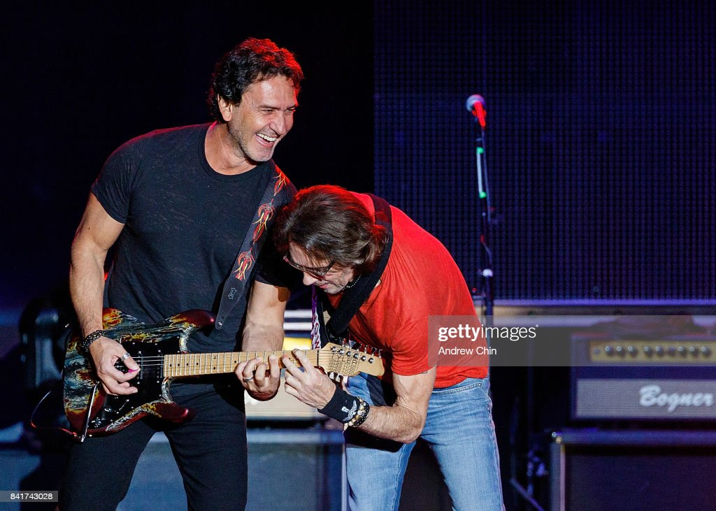 Singer Rick Springfield performs on stage during Summer Night Concert Series at PNE Amphitheatre on September 1, 2017 in Vancouver, Canada.