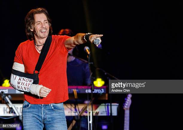 Singer Rick Springfield performs on stage during Summer Night Concert Series at PNE Amphitheatre on September 1 2017 in Vancouver Canada