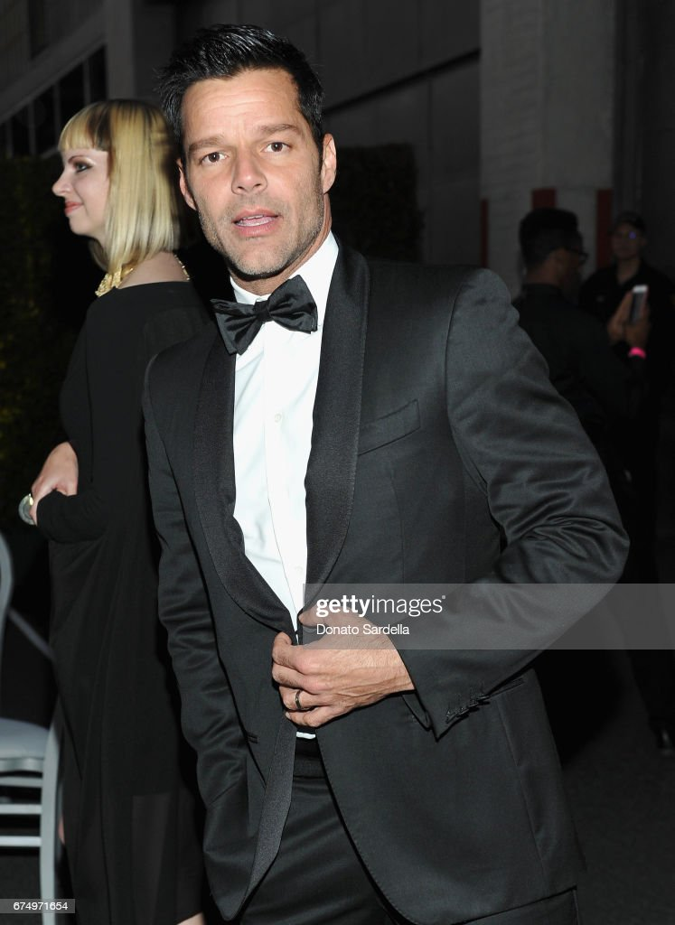 Singer Ricky Martin at the MOCA Gala 2017 honoring Jeff Koons at The Geffen Contemporary at MOCA on April 29, 2017 in Los Angeles, California.