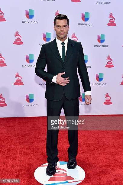 Singer Ricky Martin attends the 16th Latin GRAMMY Awards at the MGM Grand Garden Arena on November 19 2015 in Las Vegas Nevada