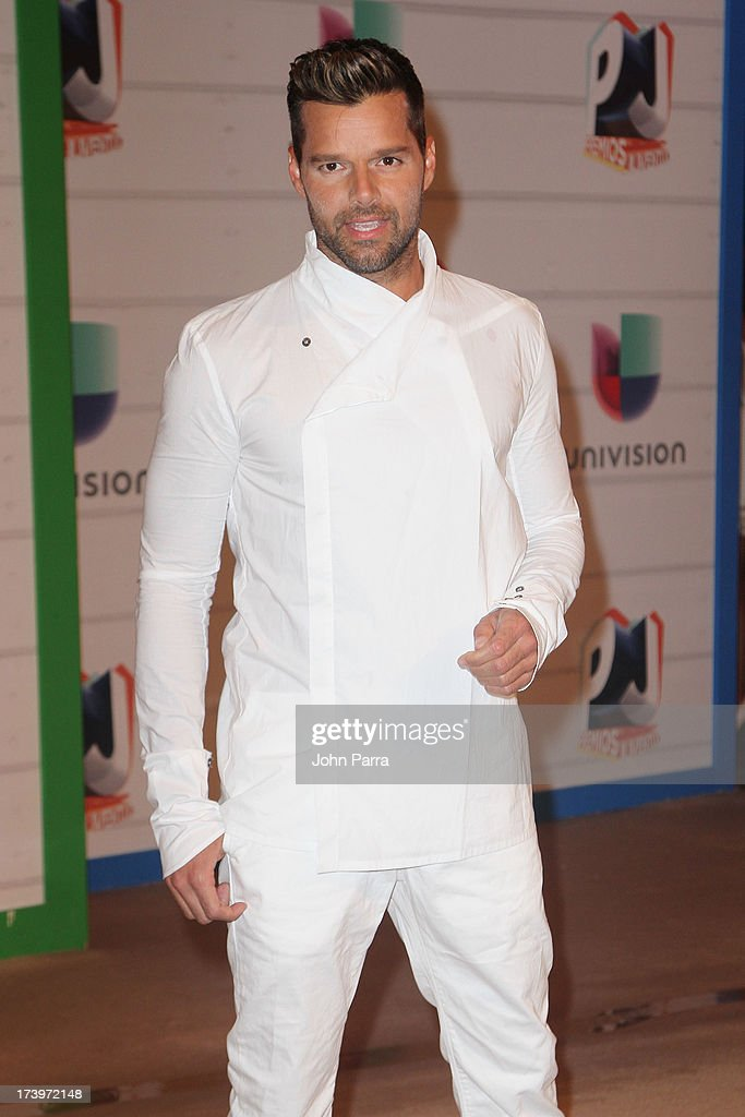 Singer Ricky Martin attends the Premios Juventud 2013 at Bank United Center on July 18, 2013 in Miami, Florida.