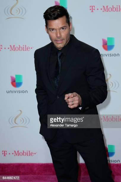 Singer Ricky Martin attends Univision's 29th Edition of Premio Lo Nuestro A La Musica Latina at the American Airlines Arena on February 23 2017 in...