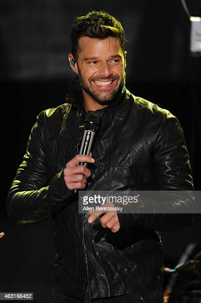Singer Ricky Martin performs onstage during an exlusive performance presented by iHeartMedia at iHeartRadio Theater on February 10 2015 in Burbank...