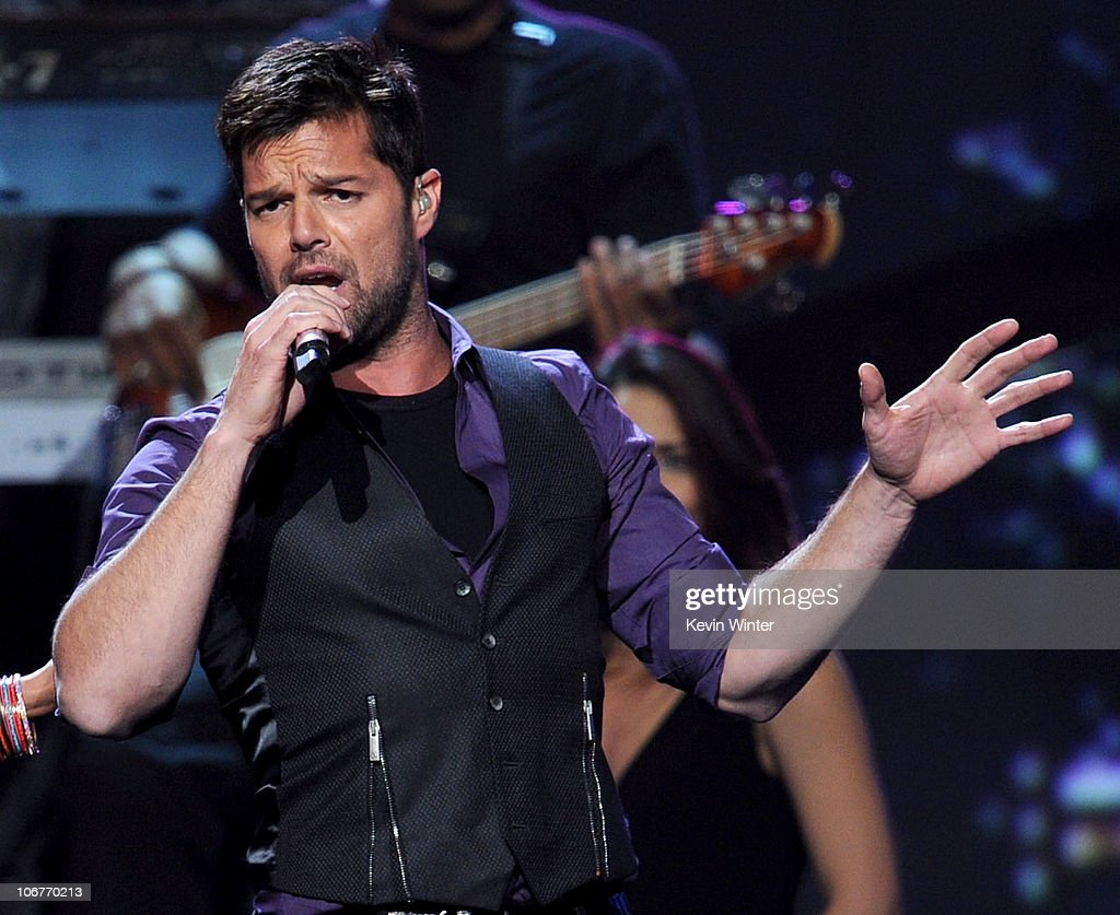 Singer Ricky Martin performs onstage during the 11th annual Latin GRAMMY Awards at the Mandalay Bay Events Center on November 11, 2010 in Las Vegas, Nevada.
