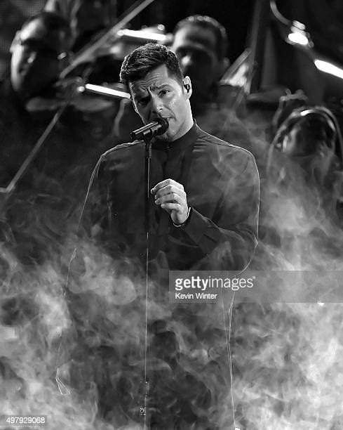 Singer Ricky Martin performs onstage during the 16th Latin GRAMMY Awards at the MGM Grand Garden Arena on November 19 2015 in Las Vegas Nevada