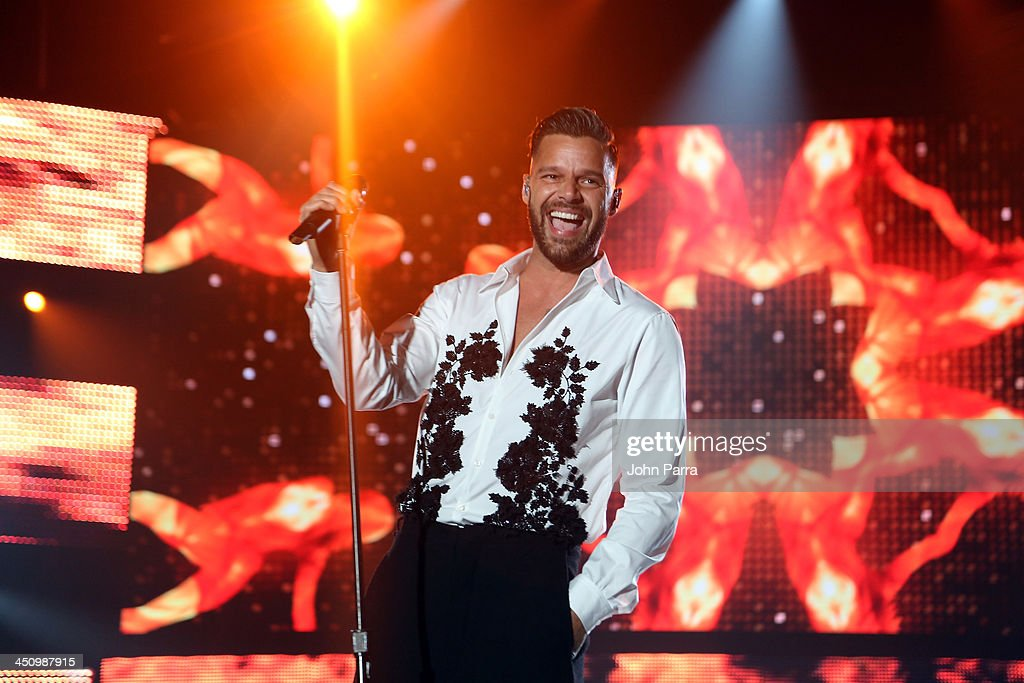 Singer <a gi-track='captionPersonalityLinkClicked' href=/galleries/search?phrase=Ricky+Martin&family=editorial&specificpeople=160450 ng-click='$event.stopPropagation()'>Ricky Martin</a> performs onstage during the 2013 Person of the Year honoring Miguel Bose at the Mandalay Bay Convention Center on November 20, 2013 in Las Vegas, Nevada.