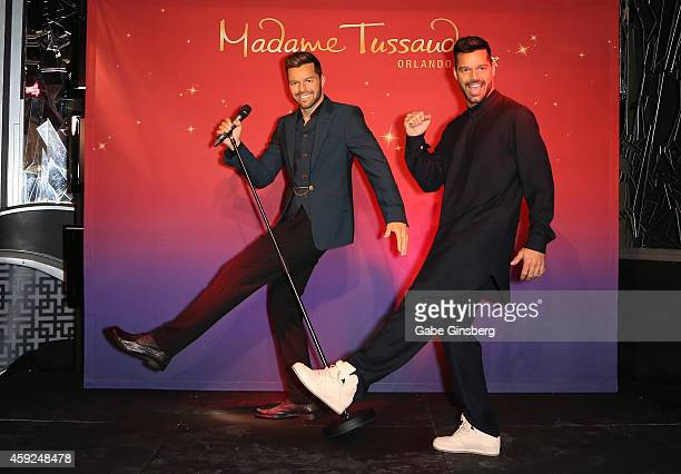 Singer Ricky Martin unveils his brand new figure at Madame Tussauds Las Vegas on November 19 2014 in Las Vegas Nevada The Figure will soon travel to...