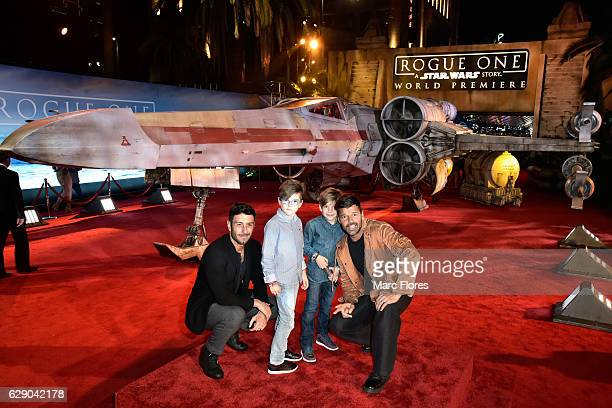 Singer Ricky Martin with children and artist Jwan Yosef attend The World Premiere of Lucasfilm's highly anticipated firstever standalone Star Wars...
