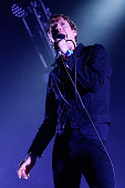 Singer Ricky Wilson of The Kaiser Chiefs performs live on stage at The O2 Arena on February 13 2015 in London England