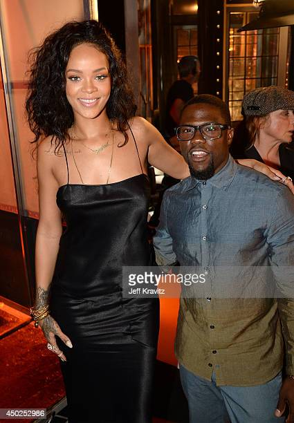 Singer Rihanna and comedian Kevin Hart attend Spike TV's 'Guys Choice 2014' at Sony Pictures Studios on June 7 2014 in Culver City California
