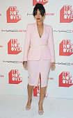 Singer Rihanna arrives at MAC Cosmetics And The MAC AIDS Fund Present 'It's Not Over' Premiere at Quixote Studios on November 18 2014 in Los Angeles...