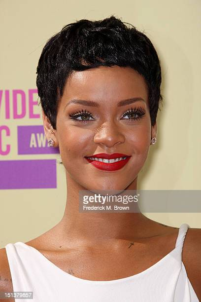 Singer Rihanna arrives at the 2012 MTV Video Music Awards at Staples Center on September 6 2012 in Los Angeles California